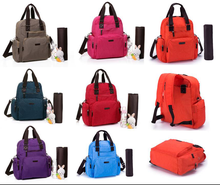 Washed Fabric Tote Cross Body Backpack Baby Diaper Bag Nappy Changing Bag