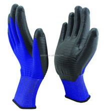 13G polyester nitrile coated working glove for safety smooth finished