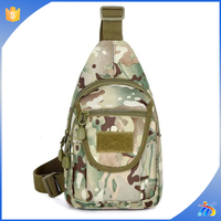 2015 high quality Army tactical canvas camo shoulder chest man military sling bag
