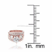 USA Manufacturer Fashion Costume Jewelry Gold Tricyclic Rings Set Design