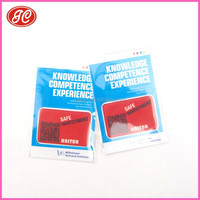 Company logo printing micro fibre cleaning sticker with Full color printing