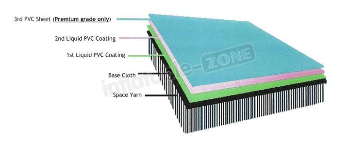 Alta qualidade salto inflável esteiras ar, azul faixa de ar inflável de ginástica