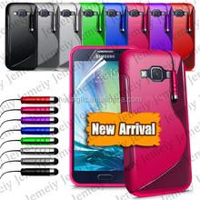 Wholesale Case S-line Grip Soft TPU Durable Rubber Silicone Gel Cover Mobile Phone Case For Samsung Galaxy E7 SM-E700