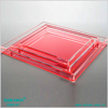 Factory direct price clear acrylic photo tray acryl tray with lid serv tray from Guangzhou Satom