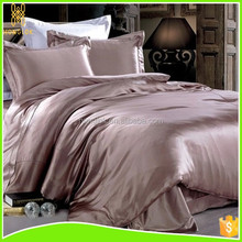 4 piece Plain Dyed Solid Color Cheap Mulberry Silk King Size Bed Sheet Set