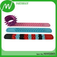 New style multi-color rubber silicone slap band