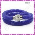 venta al por mayor de color mezclado stardust de cristal pulsera joyas de malla