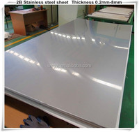 Aisi 2b 304 1/4 4' x 8' stainless steel sheets