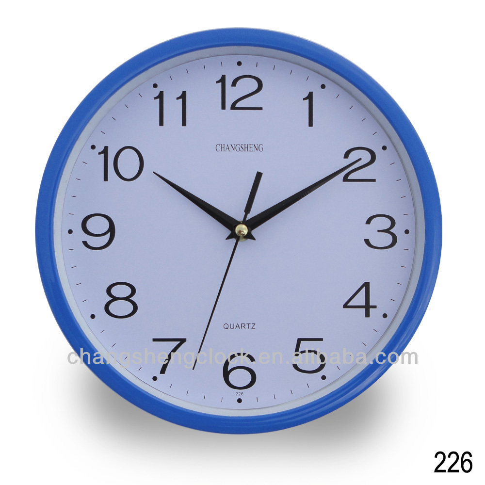 Azul de pl stico reloj de pared - Reloj decorativo de pared ...