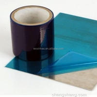 film for coated stainless steel surface protection foil hot film blue film hot sale 50micron medium tack