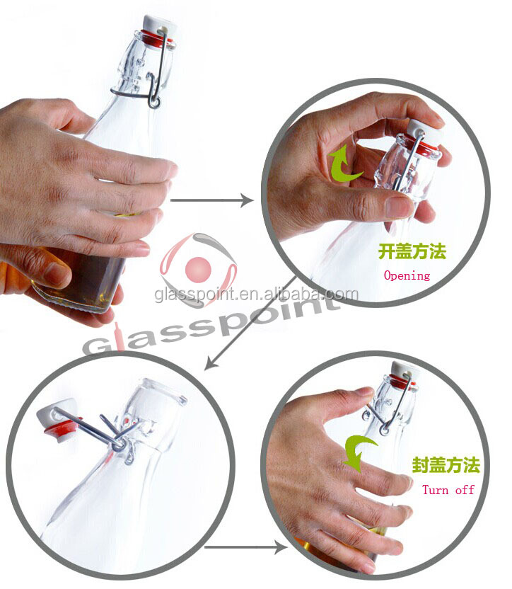 Glass Bottle With Wire Seal Stopper,Glass Bottle For ...