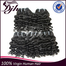 remy human hair no shedding no tangle color dyed permed brazilian deep curl hair weaving