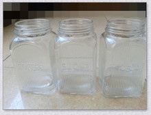 Engraving glass tea coffee sugar canister set