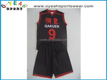 2015 new style hot sale wholesale custom reversible basketball jersey