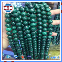 green round malachite loose gemstone beads jewellery