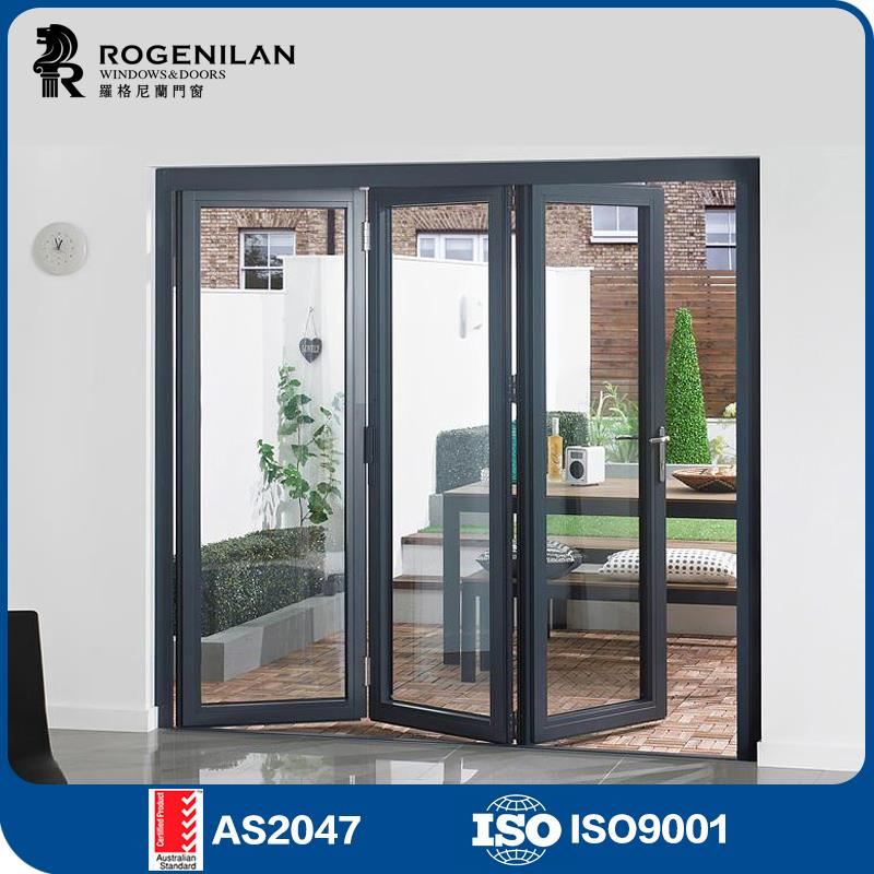 Rogenilan Cheap Folding Exterior Doors Colors Used Commercial Glass Doors For