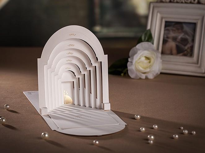 3d printing luxurious pop up wedding invitation card buy wedding 02g m4hsunfo