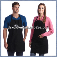 Professional Black Chef Bib Apron 100% cotton London Uniforms