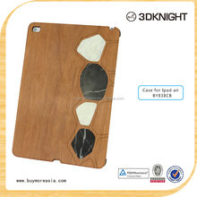 hot selling stand pc wood marble cases for ipad air