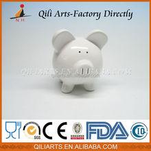 New design pig shape ceramic piggy bank that counts money