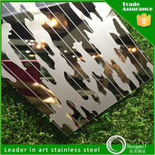 color mirror etched square meter price stainless steel plate