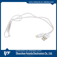 Synchronize transfer charge low profile usb cable for telephone