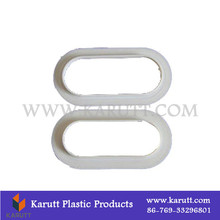 Concealed round plastic carton box buckle
