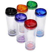 FDA approved BPA free 16oz double wall Acrylic water bottle with straw