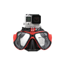 2015 top selling waterproof go pro mount diving glass mask for go pro heros 4/3+3/2