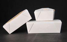 wax coated lunch paper packaging box for takeaway