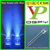 DIP 5mm Blue LED/Blue 5mm led/5mm round blue led diode 3000-4000mcd ( CE & RoHS Compliant )