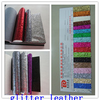 Chunky glitter fabric wall covering synthetic leather for shiny shoes material