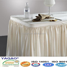 cream color beautiful table skirts for wedding