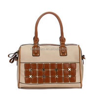 2015 New Fashion Hit Color Special Stud Satchel Women Bag