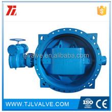 double eccentric gear/electric triple eccentric flange butterfly valve \/ double flange eccentric butterfly valve water
