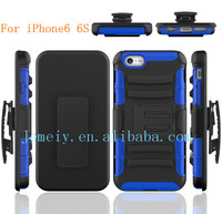 New Stylish TPU+PC Stand With Belt Clip Outdoor Cell Phone Protective Defender Armor Case For iPhone 6 Cover Factory Outlet