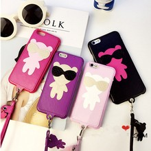 New arrival pu+pc cell phone case for iphone 4s from alibaba manufacture