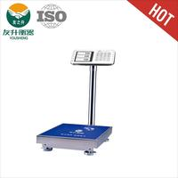 300kg / 20g Full Pure Heavy Duty Body S.S Platform Scale With LCD Big Font Display,Latest Design And Good Quality