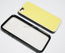 Hybrid 2D blank sublimation case for iphone 5 5s, white color