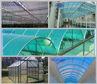 High Quality 10-year Warranty ISO Certification 100%Bayer Marolon examples of the greenhouse project with UV Protection