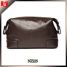 personal High Quality Soft Leather Travel Mens Leather Wash Bag transparent toiletry bag Wash Bag
