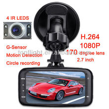 1080P HD Car DVR GS8000 + GPS+2.7' LCD +170 degree+Cycling Digital Camera + Night Vision Driving Recorder +G-Sensor