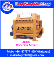 JS2000 Twin Shaft Concrete mixer --TongWang Machinery
