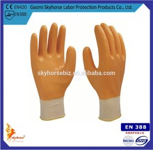 13G orange nitrile gloves,gloves for workers industry,china wholesale