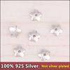 sef030 100pc/lot 925 Sterling Thai Silver jewelry Findings wholesale DIY handmade flower bead caps 4mm