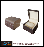 Hot sale leather watch box,SKYBOX watch packaging gift boxes