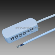 Dongguan lights and lightings fixtures molex 6 port splitter box 12V LED Cabinet Light Electric Wire Connecting box