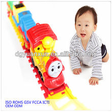 new fashion cheap fancy squeaky baby toy train toy set vehicle from dongguan china