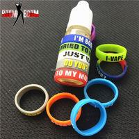 Cheap Price!!! box mod 2015 custom logo silicone rubber wristbands ring vape band