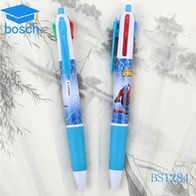 Hot new products for 2015 multi-function ball pen,5 in 1 plastic pen